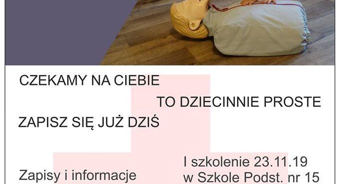 Szkolenia z pierwszej pomocy dla mieszkańców Aniołek 23 i 26 listopada