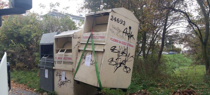 Znikają nielegalne kontenery