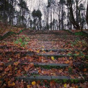 Anna Patralska - schody na Wroniej Górce