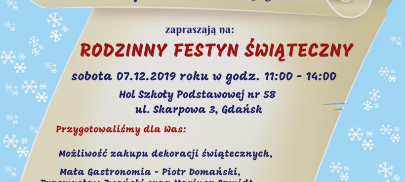 VIII Rodzinny Festyn Świąteczny w SP 58 – 7.12.2019