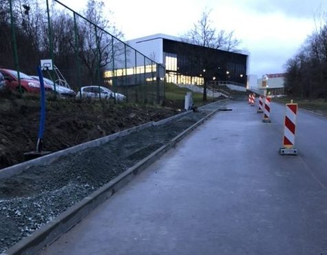 Nowy chodnik wzdłuż ul. Dębowej