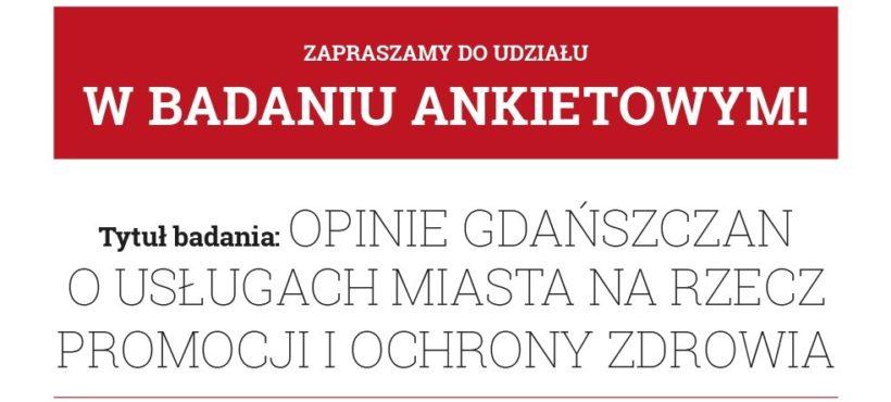 Badanie na temat usług Miasta Gdańska na rzecz promocji i ochrony zdrowia