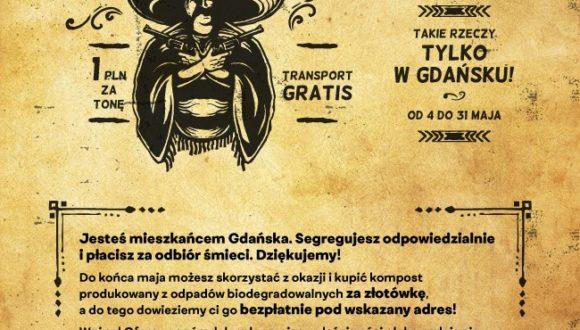 Kompost za złotówkę i transportem gratis w obrębie Gdańska – majowa oferta dla mieszkańców