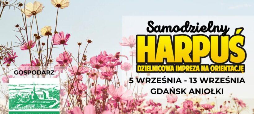 Samodzielny Harpuś – Gdańsk Aniołki 5-13 września i niespodzianka na trasie !